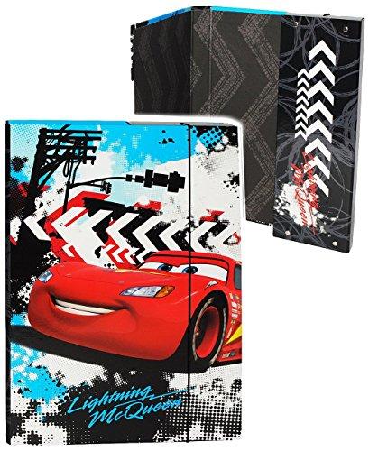 """Heftordner / Ordner A4 - """" Disney Cars - Lightning McQueen """" - für Hefte, Zettel und Mappen - Gummizugmappe & Heftmappe - Mappe Ordnermappe / Ordnungsmappe Hefter Heftbox - A 4 - Kinder Jungen - Auto / Fahrzeuge Mc Queen"""