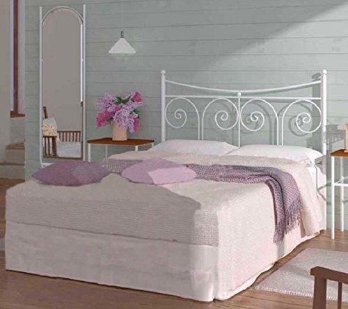 HOGARES CON ESTILO - Cabecero de Forja nacional modelo PALMA para una cama de 150 cms. (Varios colores y medidas disponibles).