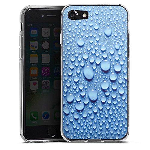 Apple iPhone X Silikon Hülle Case Schutzhülle Wasser Tropfen Muster Silikon Case transparent