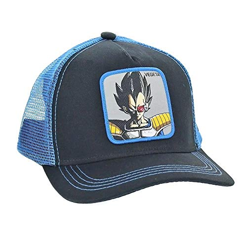 Collabs Gorra Dragon Ball Z Vegeta Trucker Negro OSFA