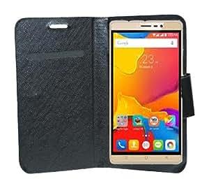 Johra High Quality Diary Wallet Flip Cover Case for Karbonn Titanium Mach Six (Black)