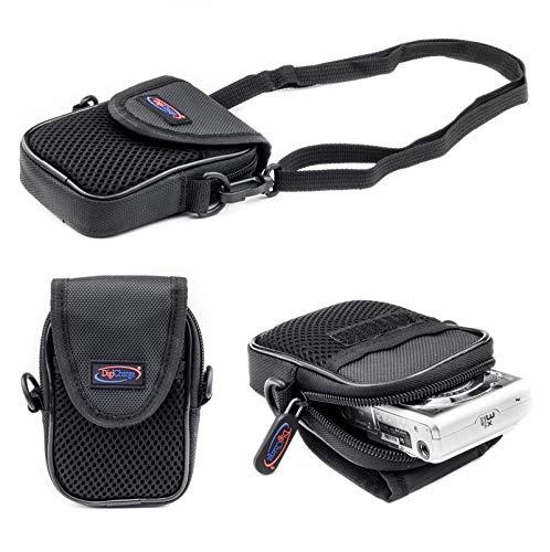 Digicharge Kompaktkamera Kameratasche für Canon Ixus 285 HS 190 185 Powershot Elph A SX S Serie inc S120 S200 A3500 SX610 HS SX620 HS SX240 HS SX280 HS A1400 A2400 is Kamera Tasche Case mit Tragegurt