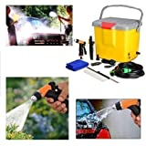 PORTABLE AUTOMATIC CAR WASHER 12 V WITH POWER GUN & BRUSH FOR POWERFUL PRESSUR