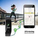 WiMiUS Fitness Armband mit Pulsmesser, Wasserdicht IP68 Fitness Tracker, Aktivitätstracker, Schlaf Monitor,Schrittzähler, GPS, Kalorienzähler Uhr Smart Watch für Damen Herren (Schwarz) - 5