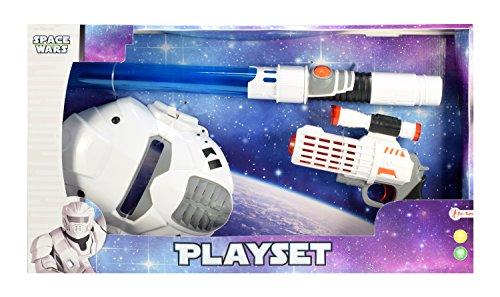 Toi-Toys 12091A - Spacewars Spielset mit Pistole, Maske und Lichtschwert