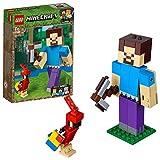 LEGO Minecraft - BigFig Minecraft: Steve con Loro, juguete de construcción y aventuras basado en personajes del videojuego (21148)