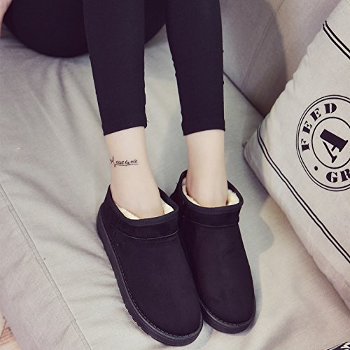 Autumn And Winter Snow Boots Boots Shoes Short Tube Warm Black