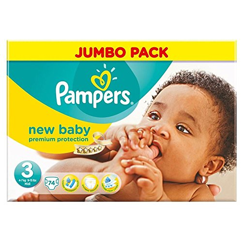 Pampers New Baby Size 3 (4-7kg) Midi x 74 per pack