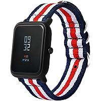 Zolimx Lienzo Correa de Banda de Reloj Con Hebilla Conector Para Xiaomi Amazfit Sport Smartband (22mm)