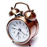 #6: Rise N Shine Copper Dial Vintage Look Table Alarm Clock With Night Led Display