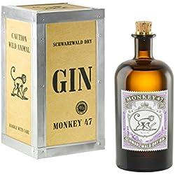 Monkey 47 Holzkiste Gin (1 x 0.5 l) Monkey 47 Schwarzwald Dry Gin