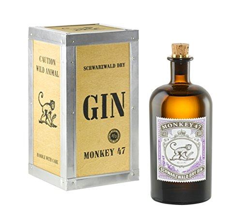 Monkey 47 Schwarzwald Dry Gin in Holzkiste 0,5l 47% (Alkohol 47)
