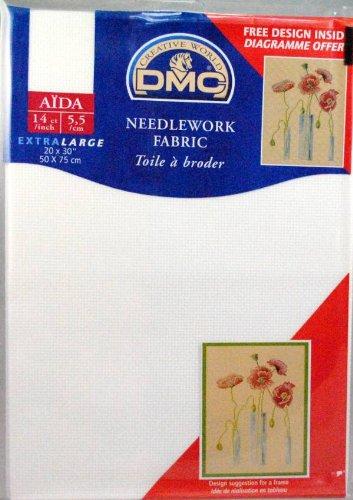 DMC Needlework Stoff - Aida Weiß 14 count 20 x 30