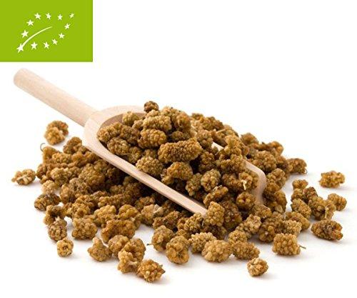 Bio Maulbeeren 500g aus kontrolliert biologischem Anbau - Vitamine & Inhaltsstoffe Bio Maulbeere Trockenfrüchte vitalingo (DE-ÖKO-001) -