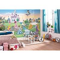 Komar Papel pintado de pared con diseño de castillo de princesa de Disney, vinilo, multicolor, 8paneles, de la marca