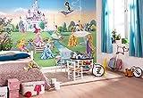 Komar Disney Princesse Château Papier Peint, en Vinyle, Multicolore, Lot de 8