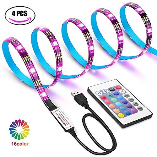 Foto de Tiras LED USB de 2 metros con Colores RGB, Para TV Entre 40 y 60 Pulgadas, con Control Infrarrojo