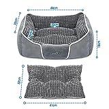 Pecute Hundebett Haustierbett für Katzen und Hunde Rechteck Ultra Weicher Plüsch luxuriöse Haustier-Schlafsack Maschine waschbar - 4
