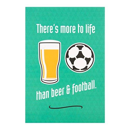 """Hallmark Funny Geburtstag Karte""""Bier und Fußball""""–Kleine"""