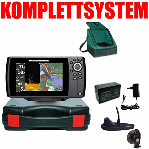 Humminbird Echolot GPS - Portabel Basic Plus Helix 7 Chirp Mega DI G3