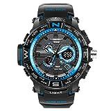 Adisaer Herren Armbanduhr Wasserdicht Herrenuhr Multifunktional Schwarz Blau Outdoor Sportuhr Armbanduhr Automatikuhr