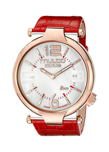 MULCO Women's MW5-3183-063 Couture Slim Analog Display Swiss Quartz Red Watch