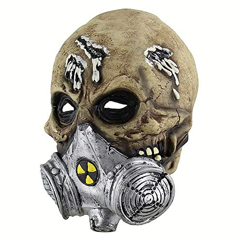 Schreckliche Halloween-maske Biochemie Skeleton Soldiers Maske Masquerade Scary Maskiert Halloween-party-kostümprop (Für Skeleton Bilder Face Halloween)