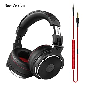 OneOdio Over Ear Headphones Closed Back Studio DJ Headphones for Monitoring, Adapter Free, Deep Bass, Noise Isolating Wired Headsets