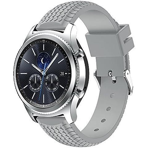 Gear S3 Frontier/Classic Watch Band,SUMIN® Suave reemplazo de silicona correa de deporte para Samsung Gear S3 Frontier / S3 Classic Smart Watch, (NOT FIT S2 & S2 Classic &