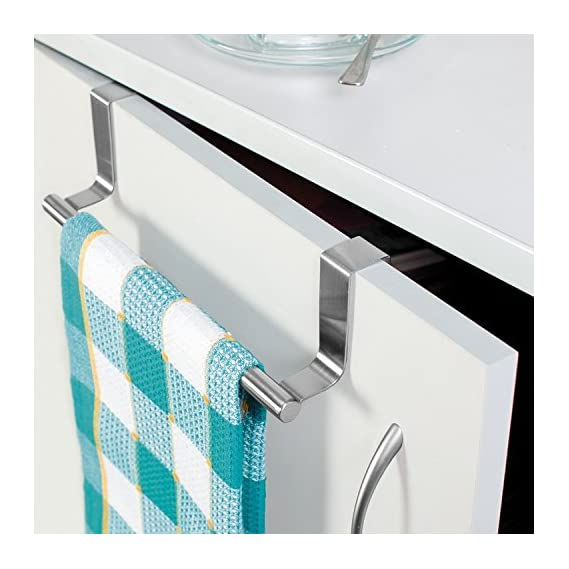 Home Cube Stainless Steel Towel Bar Holder Cabinet Hanger Over Door Kitchen Hook Drawer Storage = 23 Cm
