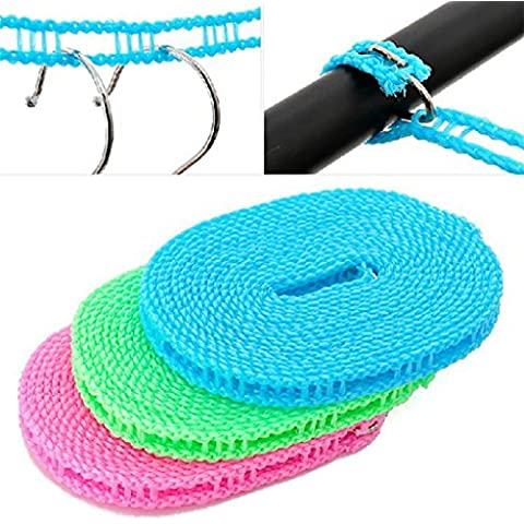 XL-3-Protección contra el viento de secado valla de deslizamiento tendedero de cuerda seca es 3 viajes m 5 m colgante cuerda para tender la cuerda al aire libre , 5 meters