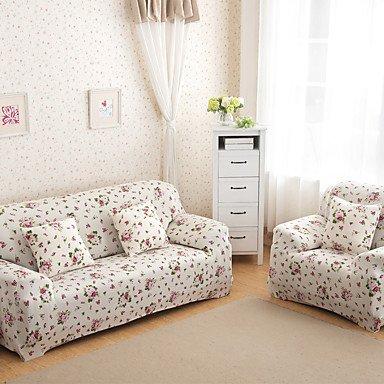 Osy indischen Tight Handtuch Full Sofa Sofa-Set Jahreszeiten rutschfeste elastischer Stoff Sofa-Set (Flowers Pink) loveseat