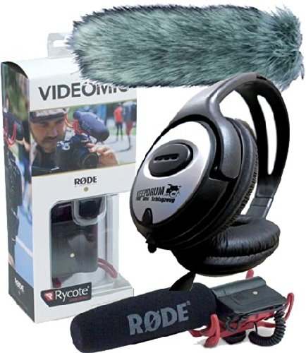 Galleria fotografica Rode VideoMic Rycote microfono direzionale + Deadcat?? + Keep Drum Cuffie