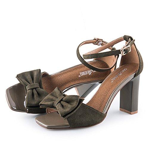 Chaussures Carrées Dété/Lady,Un Mot Avec,Talons Hauts/Sandales à Talon Chunky A
