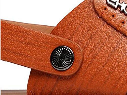 Beauqueen Dual-Use Herren Clip Toe Open Toe Outdoor Sandalen Hausschuhe Beach Lightweight Breathable Anti-Rutsch Casual Sandalen 38-44 Khaki