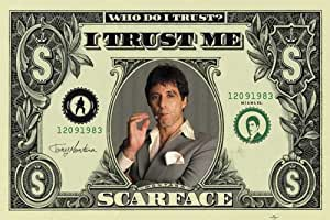 Scarface dollar giant poster xXL format géant 140 x 100 cm