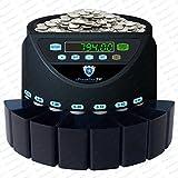 Münzzähler Münzzählmaschine nur für SFR CHF Münzsortierer Geldzählmaschine SR1200 von Securina24 (schwarz - Blacklabel - BBB)