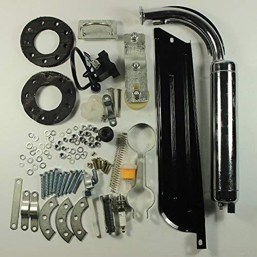 Gowe 80 cc Fahrrad 2-Takt-Gasmotor-Kit Heimwerker-Fahrrad, Schwarz - Motor Benzin Fahrrad