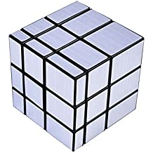 Cubo Rubik, DAXIN Mirror blocks plata brillante marco negro Magic Cube Puzzle Brain Teaser