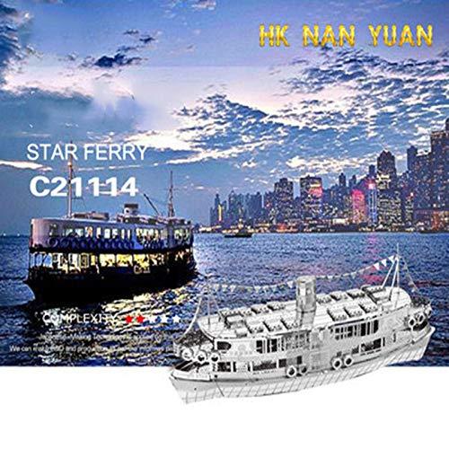 Star cruises fai da te in metallo fatti a mano assemblato per bambini modello assemblato kit 3d laser cut jigsaw giocattoli argento + strumento a taglia unica