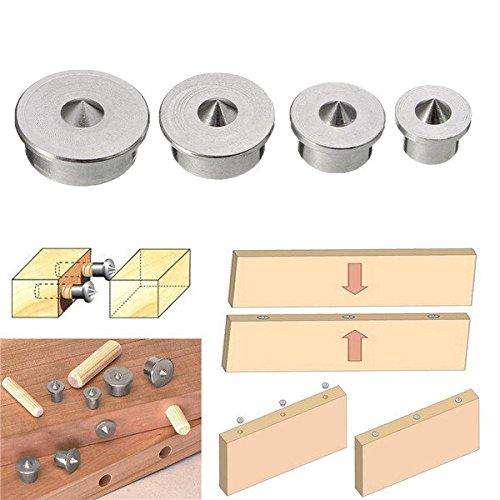Doradus 4Dübel Zapfens Center Punkte Set Dübel Pins Gelenk Alignment Tool 6/8/10/12mm -