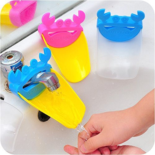 Wuzmei robinet Extender pour tout-petits, enfants, Bébés – Lavabo Poignée Extender pour les enfants, leur Permet d'atteindre l'eau – durable et sûr robinet extension de fixation – Parfait accessoire de salle de bain ou cadeau pour baby shower,