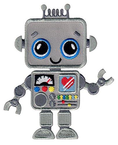 PatchMommy Robot Parche Termoadhesivo - Apliques Bordados para Niños