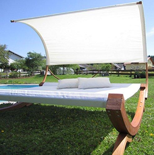XXL Sonnenliege Doppelliege Gartenliege Hängematte Doppel Liege Gartenmöbel extrabreit für 2 Personen Modell SAONA von AS-S - 8