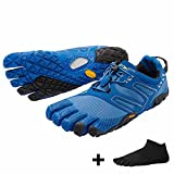Vibram FiveFingers V-Trail Men + Zehensocke 11005, Size:44;Color:Blue / Black