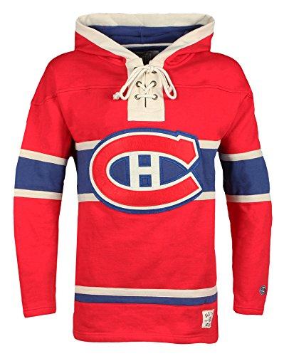 Old Time Hockey-Herrenpullover Kapuzenpullover der NHL, mit Schnürung, Dicker Pullover, Herren, NHL Men Lacer Heavyweight Hoodie, rot, XXXL