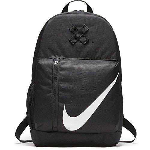 Nike y Nk Elmntl Bkpk, Mochila Unisex Niños, Negro/Negro/Blanco, 15x24x45 cm