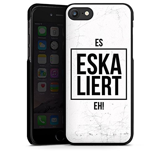 Apple iPhone X Silikon Hülle Case Schutzhülle Eskaliert Spruch Statement Hard Case schwarz