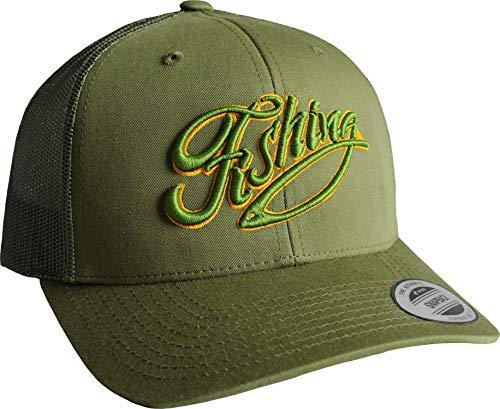 Baddery Cap: Fishing - Angler-Hut - Geschenk für Angler - Angelbekleidung - Cap für Angler - Anglermütze - Anglerin - Angler-Mütze - Angeln Köder Fisch Fischen Verein - Trucker Cap...