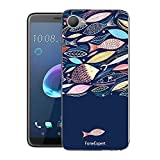 HTC Desire 12 Handy Tasche, FoneExpert® Ultra dünn TPU Gel Hülle Silikon Case Cover Hüllen Schutzhülle Für HTC Desire 12